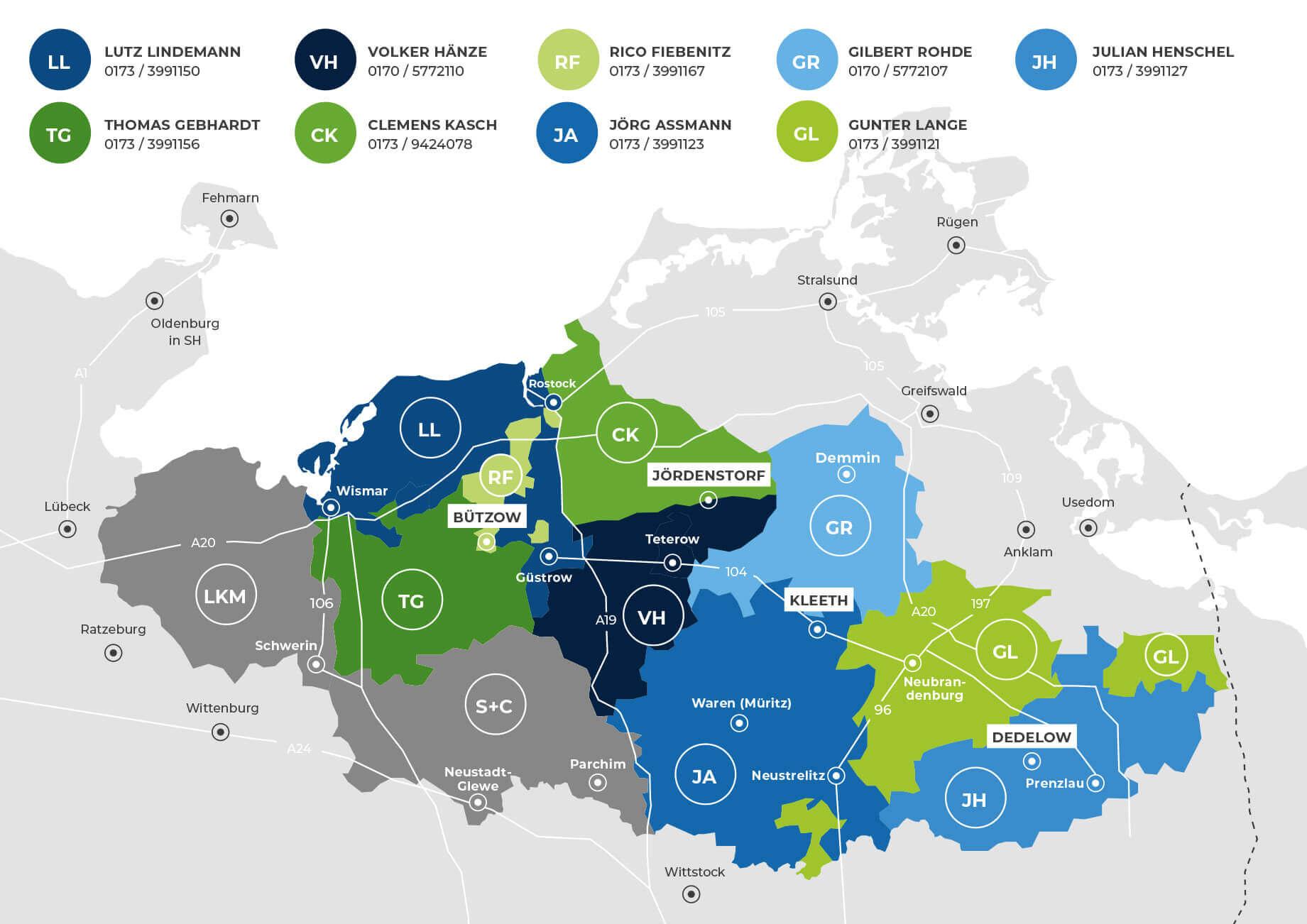 Landtechnik Geschaftsgebiet-Mecklenburg-Vorpommern